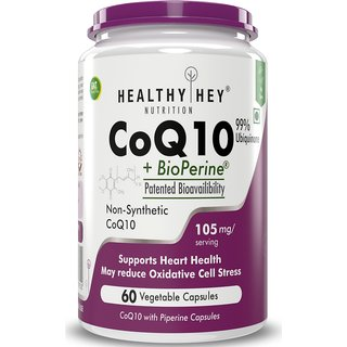 HealthyHey Nutrition CoQ10-105mg - 60 Veg Capsules (Pack of 1)