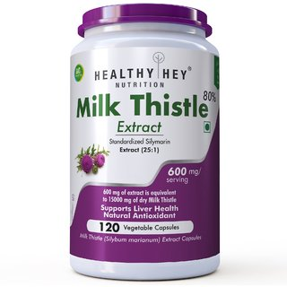 Healthyhey Nutrition Milk Thistle Extract 600 Mg -120 Vegetable Capsules