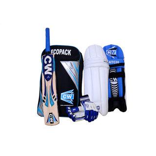 Economy Ecopak Match Smasher Sports 4 Item Cricket Batting Blue Kit Set Full Senior Size