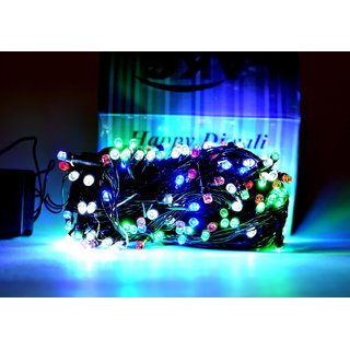 SILVOSWAN LED Light Ladi 10 Meter Multicolor for Diwali / Festival / Wedding / Christmas / New Year (Set of 2)