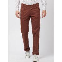 Integriti Men's Brown Regular Fit Jeans