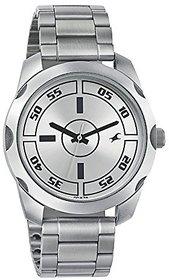 Fastrack Quartz Silver Dial Mens Watch-3123SM02