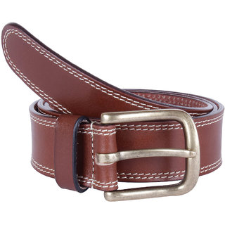 Kara Men Brown Genuine Leather Belt-X-Large-Brown