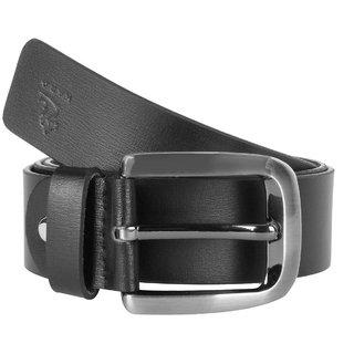 Kara Men Black Leather Belt-36-Black