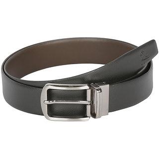 Kara Black and Brown Color Genuine Leather Belt For Men (36)