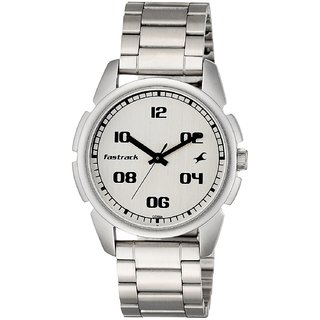 Fastrack Quartz White Round Men Watch 3124SM01 Men Watches