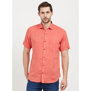 Easies Men's Red Casual Shirt
