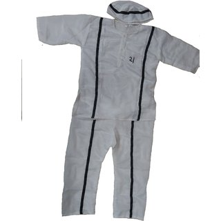 Prisoner Or Qaidi Fancy Dress Costume For Kids
