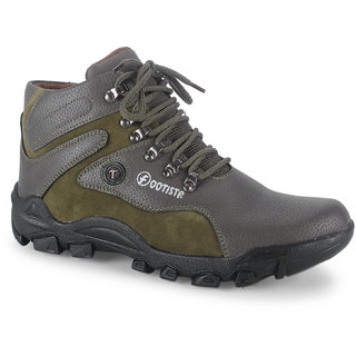 Footista Mens Green Lace-up Lace-up Boot
