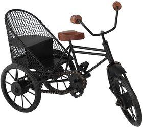 BuzyKart Decorative Small Miniature Of Metal Wrought Iron Jaali Rickshaw