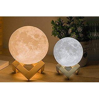 Knostic 3D Moon Lamp India/Moon Shaped Lamp/LED Moon Lamp/Lunar moonlight lamp - Multi Color - 14CM
