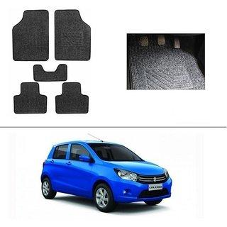 KunjZone Best Quality Set of 5 Carpet Black Car Foot Mat / Car Floor Mat for  Maruti Suzuki Celerio