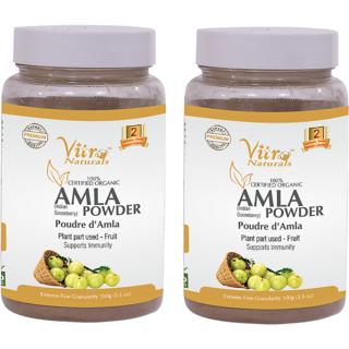 Certified Organic Amla Powder 100 gm Set of 2