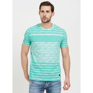 Easies Men's Green Round Neck T-shirt