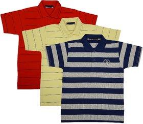 NEUVIN Boy's Polo TShirt COMBO-3