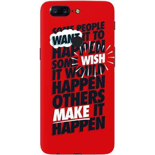 PEEPAL OnePlus 5T Designer & Printed Case Cover 3D Printing Quote Design
