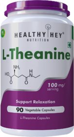 HealthyHey L-Theanine 100mg- Support Relaxation - 90 Vegetarian Capsules