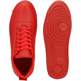 Buy Lejano Mens Red Lace up Sneakers