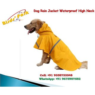 Dog Rain Jacket High Neck Good for Labrador, Dalmatiam Medium sized pet Size 30 No EXPORT QUALITY
