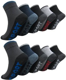 Aanand Mens Cotton Casual Ankle Socks Set of 12 Pairs