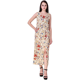 Hardy's Collection Women's Multicolor Printed Chinese Collar Cotton Dress