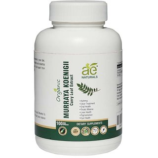 AE NATURALS Pure Organic Murraya koenigii-Curry Leaf Extract 800Mg 100 Veg Capsules