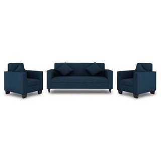 Gioteak Jakarta 5 Seater (3+1+1) Sofa Set in Royal Blue Upholstery with Cushions