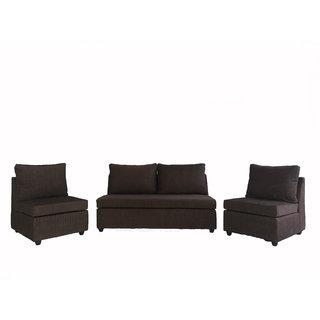 Gioteak Modern 3+1+1 Sofa Set in Brown
