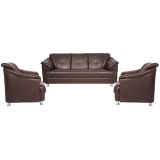 Gioteak MONTANA 3+1+1 BROWN LEATHRITE SOFA SET PERFECT FOR HOME AND OFFICES  ALSO AVAILABLE IN THREE 3 SEATER ALONE