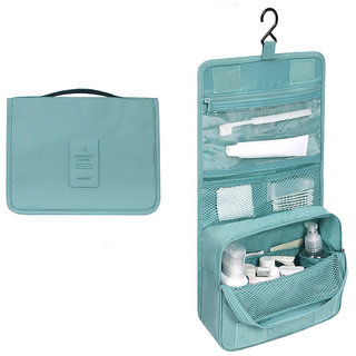 Travel Toiletry Make Up Cosmetic Folding Hanging Bag Wash Case Clothing Organizer Pouch Random Color- TRTOIBG