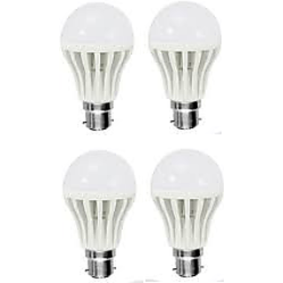 PNP 9watt LED B22 Cool Daylight Bulb (Cool Day Light,Pack Of 4)