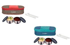 Carrolite Easy Carry 2 Black container Lunchbox Red+Brown  Blue+Green Buy 1 get 1 Free