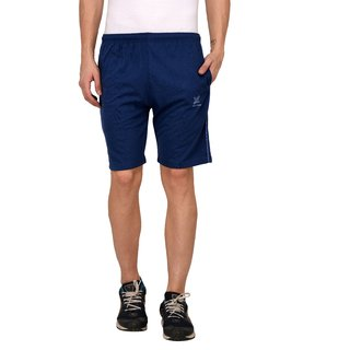 Odoky Denim Blue Cotton Casual Shorts