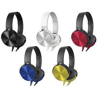 Vinimox Extra Bass Over The Ear Wired Headphones (Color May Vary)