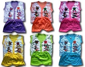 BORN BABY BABA SUIT PACK OF 6 PRINT SENT AS PER AVAILABLE