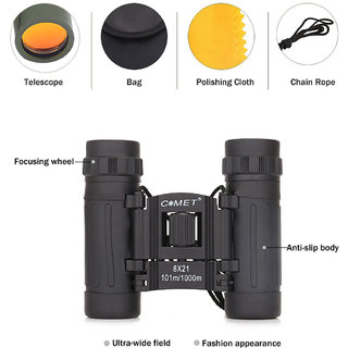 new  8X21 Original 10x ZOOM Binoculars Powerful Zoom Long Range telescopio professional high power Folding Telescope
