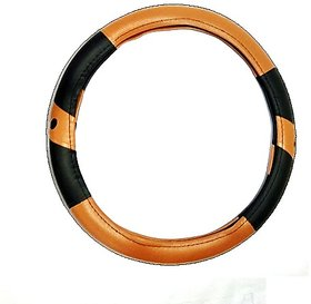 Steering Cover for Maruti Alto (Beige  Black)
