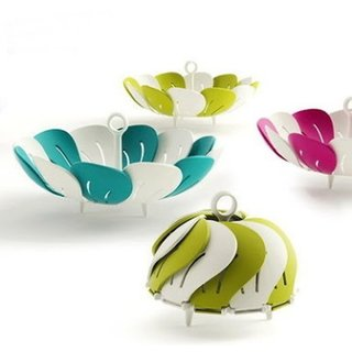 Foldable Lotus Shape Vegetables, Fruits Basket