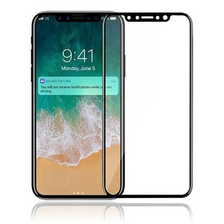 TRY BROS iPhone X Tempered Glass Full Body Black Tempered Glass For Apple iPhone X (Ten) - iPhone X (10) Tempered Glass