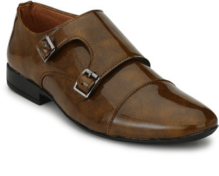 Lee Peeter Men's Tan Patent Formal Shoe