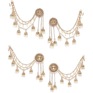 Zaveri Pearls Combo of 2 Bollywood Inspired Dangling Jhumki Earring-ZPFK7013