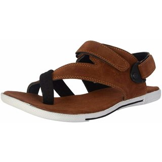 be3a63100306 Buy Lee Peeter Men s Brown Stylish Sandals Online - Get 52% Off
