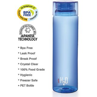 Cello H2O Unbreakable Bottle  1 Litre (Set of 1) 100 Original Leak Proof Colour May Vary.