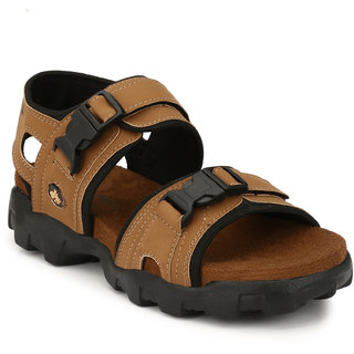 Lee Peeter Men's Tan Valcro Sandals