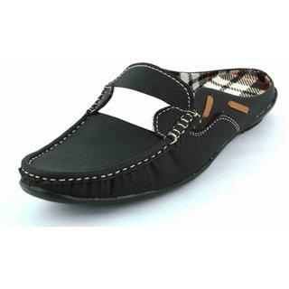 Lee Peeter Men's Black Open Sandals