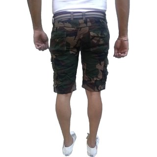 8f3ae56acb Timbre Men Army Print Camouflage Cargo Shorts with 9 Pockets Camouflage  Shorts for Men Boys With