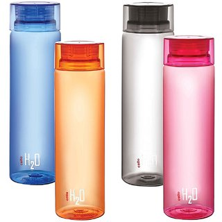 Cello H2O water Bottle PET 1000 ml (pack of 4)