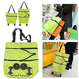 BANQLYN Best Gift for Mom Portable Tug Package Cart Case Folding Trolley Shopping Bag with Wheels