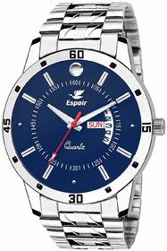 Espoir Round Dial Silver Stainless Steel Strap Analog Watch For Men - Nail0507
