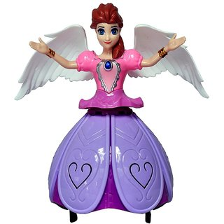 Shribossji Dancing Angel Girl Robot with Lights and Music for Kids (Multicolor)